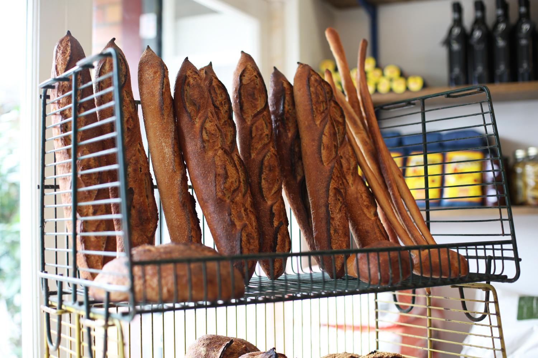 Lonzo's selection of bread in their london fields shop