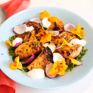 Recipe: chargrilled butternut squash salad