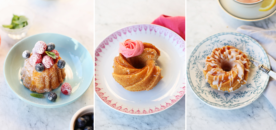 Bundt Cakes Three Ways