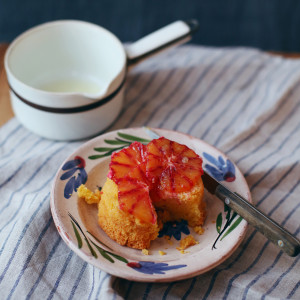 Recipe: blood orange polenta cakes