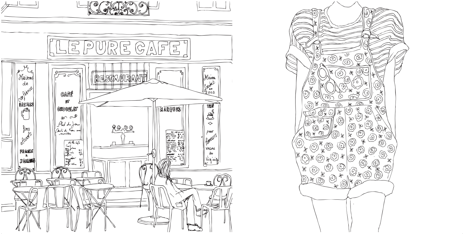 parisian street style colouring book - Paris Coloring Book
