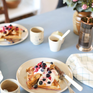 Recipe: buttermilk and rye waffles