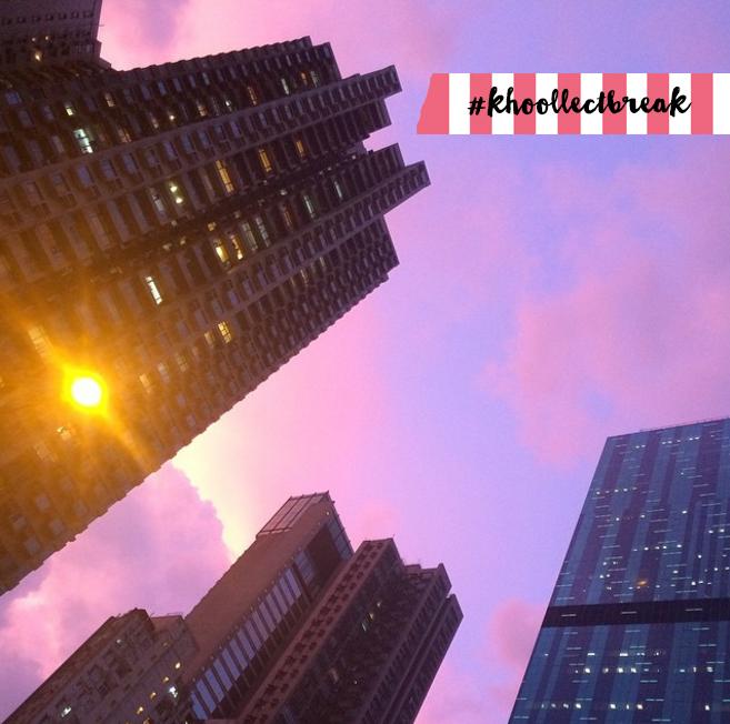 Take a khoollect break and enjoy a Hong Kong sunset