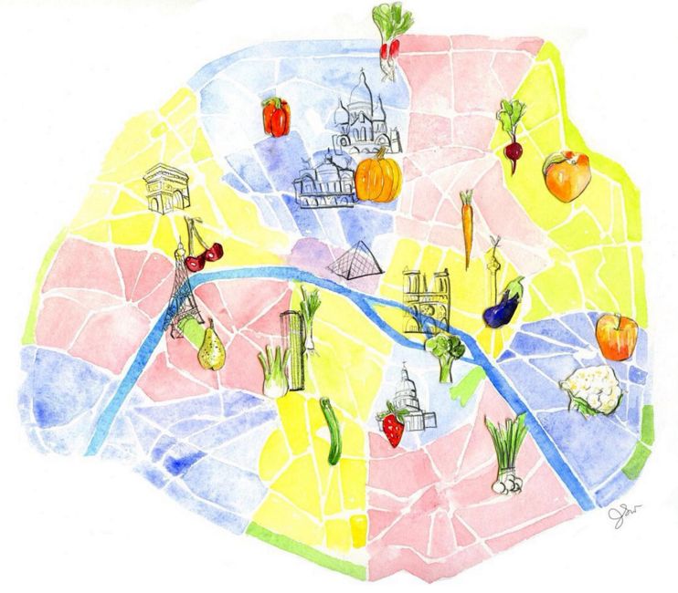 Paris Based Illustrator Food Stylist And Cookbook Author Jessie Kanelos Weiner Is About To Launch Her New Project Edible Paradise A Colouring Book Of