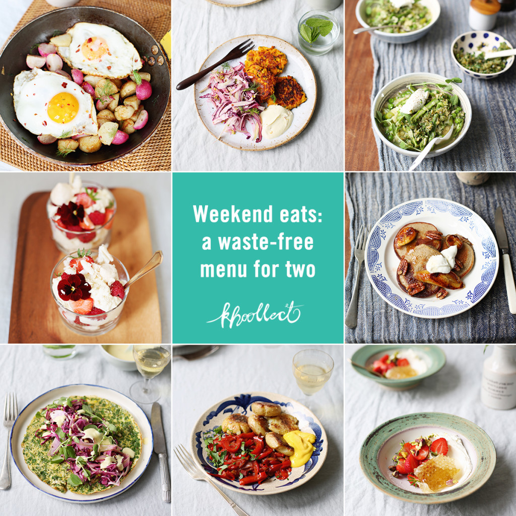 Weekend eats: a waste-free menu for two