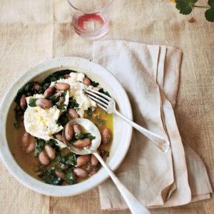 Recipe: Mozzarella, Borlotti and Wild Garlic Green Sauce