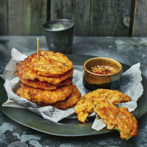 Recipe: Potato pancakes with Asian pear compote