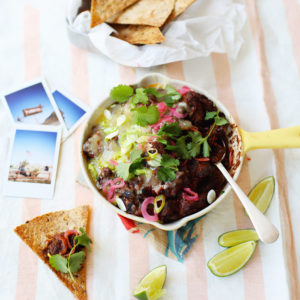 Recipe: Smoky beef bean chilli with tortilla crisps