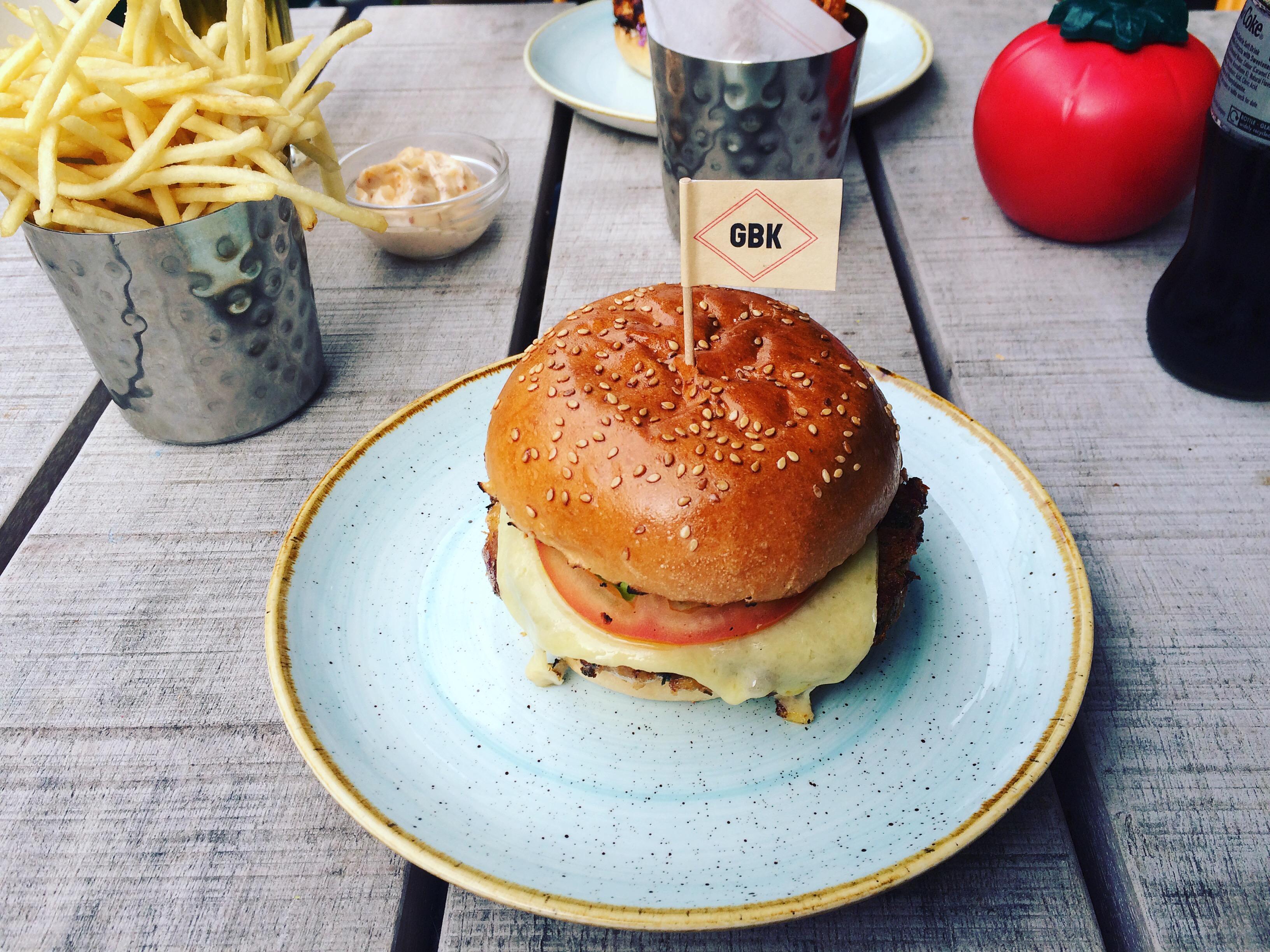 Veggie burger at GBK