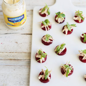 Recipe: beetroot and turkey blinis