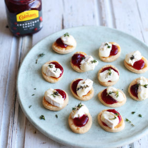 Recipe: cranberry mini tartlets topped with brie