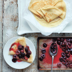Recipes: Crepes with roasted cherries