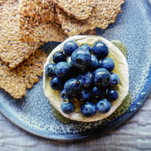 Recipe: Vanessa Fletcher's brie, blueberries, honey and flax crackers