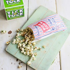 Recipe: matcha and rosemary popcorn