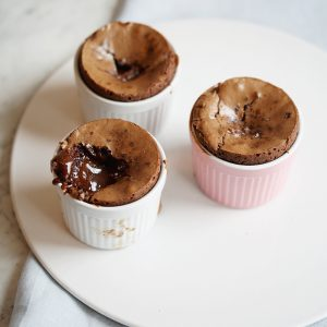 Recipe: dark chocolate salted fondants