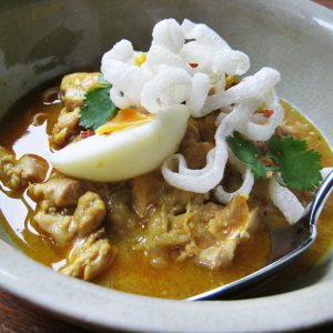 Recipe: 'Ohn no khauswe' Burmese coconut chicken noodles
