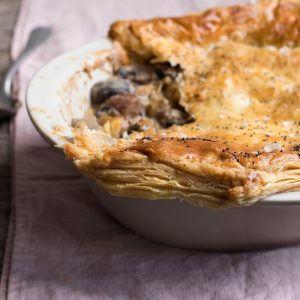 Recipe: Creamy Mushroom, Leek and Chestnut Pie