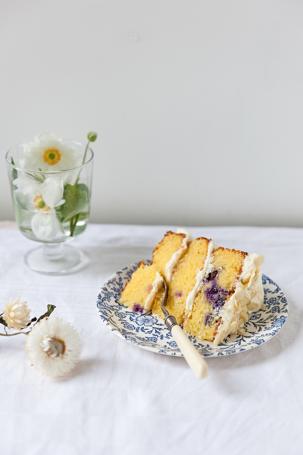 Lemon Berry Polenta Cake