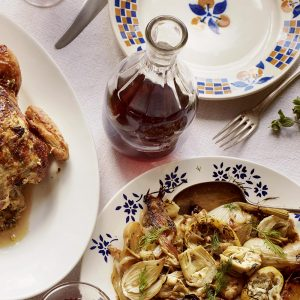 Recipe: Braised artichokes, fennel and new potatoes