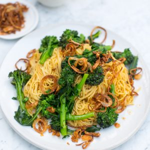 Recipe: Shu Han Lee's Dry-tossed egg noodles with tenderstem broccoli
