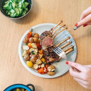 Recipe: Roasted Lamb and Greek Salad