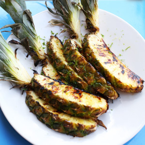 Recipe: maple glazed pineapple wedges