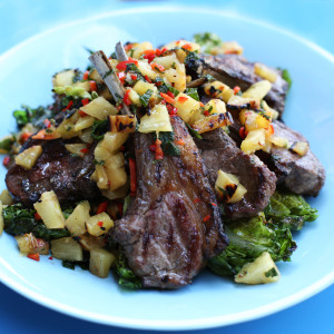 Recipe: barbecue lamb with pineapple and chilli vinigarette