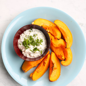 Recipe: squash wedges with cool cottage cheese dip