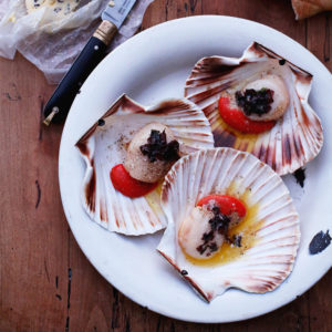 Recipe: scallops in seaweed butter