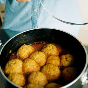 Recipe: Smoky Butternut squash stew with chickpea dumplings