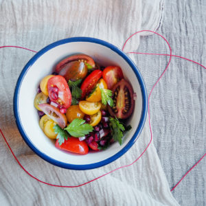 Recipe: Vanessa Fletcher's tomato, pomegranate and parsley salad