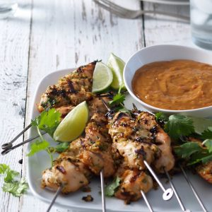 Recipe: Lemongrass Coriander Chicken Skewers