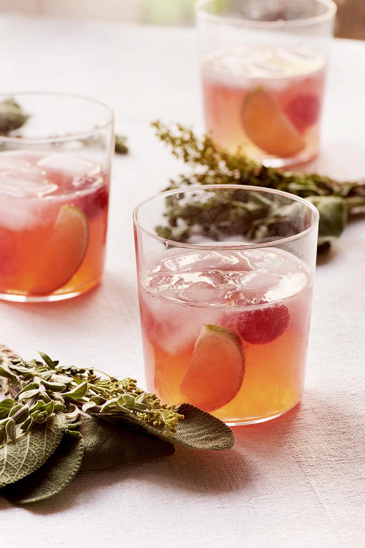 raspeberry lime gin and tonic